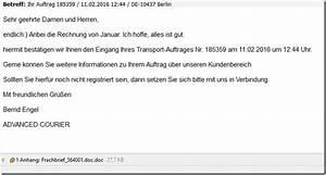 Anbei übersende Ich Ihnen Die Rechnung Mit Der Bitte : vorsicht frachbrief sic von advanced courier ist ein virus mimikama ~ Themetempest.com Abrechnung