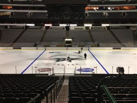The Dallas Stars have the new logo on the ice at the AAC ...