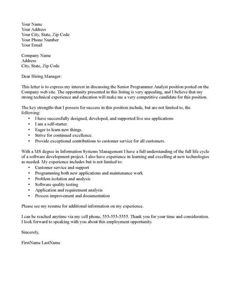 Programmer Cover Letter How To Write An Interest Letter For A Teaching Cover Letter Templates