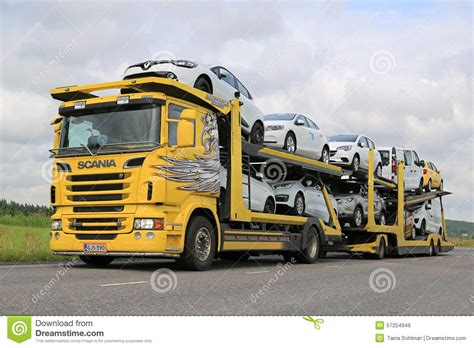 scania  car carrier  vehicles transport editorial