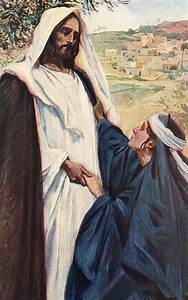 Meeting Of Jesus And Martha Painting by Corwin Knapp Linson