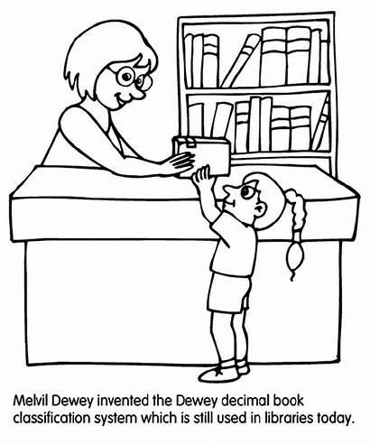 Library Coloring Pages Librarian Crayola Lion Activities