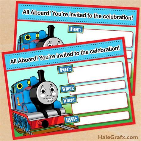 printable thomas  tank engine birthday invitation