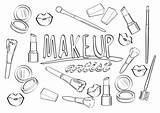 Coloring Artist Makeup Brushes художника макияжа страница Cosmetics τη καλλιτεχνών σελίδα Cartoon Lipsticks Whitesbelfast для Profession Alphabet Abc με Painter sketch template