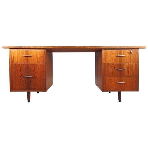mid century desk with drawers danish mid century rosewood writing desk with five drawers