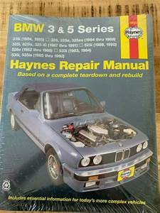 Haynes Repair Manual 18020 Bmw 3  U0026 5 Series 325 1984