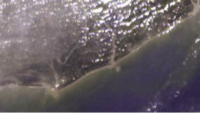 Tsunami Waves Breaking Nasa India 2004 Coast