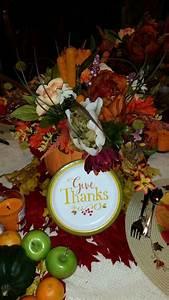 Thanksgiving, Centerpiece, Using, Silk, Flowers, And, Carvable, Pumpkin