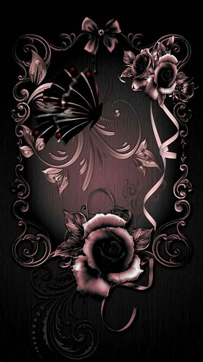 Rose Iphone Gold Lock Screen Backgrounds Gothic
