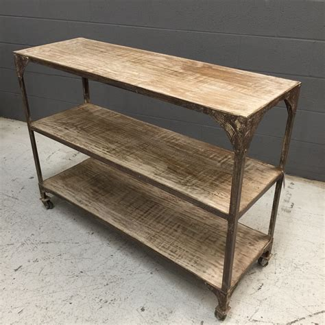 Iron And Wood Console Table  Nadeau Nashville