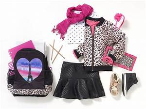 Back to School Outfits | Photo-real backpacks leopard jacket girls accessories back to school ...