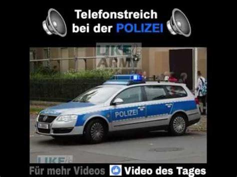 Sportwagenfahrer Ueber Die Polizei by Polizei Prank Am Telefon