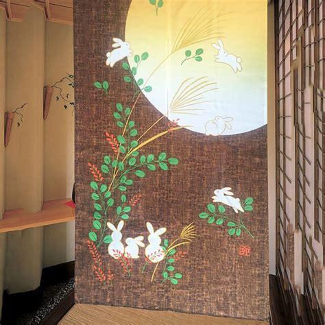 japanese style noren door curtain traditional doorway