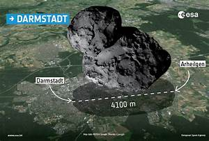 Comet over cities in Europe | Rosetta - ESA's comet chaser