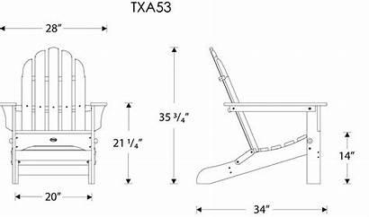 Chair Adirondack Furniture Trex Folding Cod Cape