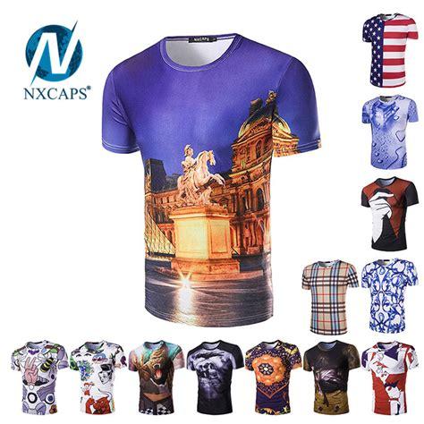 mens unisex 3d digital fashion graphic printing t shirts fashion digital print tees