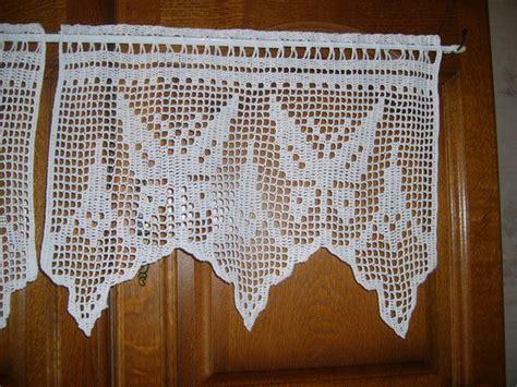 rideaux coton blanc papillons crochet customisable