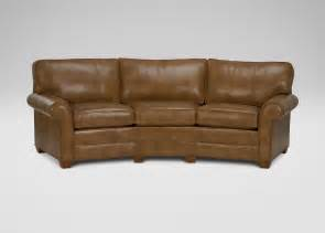 Ethan Allen Leather Sofa Recliner by Bennett Conversation Leather Sofa Sofas Amp Loveseats