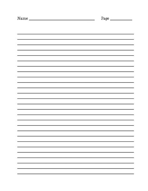 free writing template lined paper for writing activity shelter
