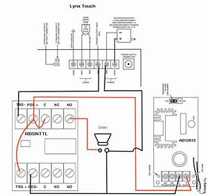 how do i add a wired siren to a honeywell lynx touch using With lynx alarm wiring