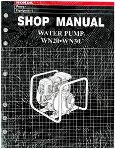 Honda Wn20 30 Water Pump Shop Manual