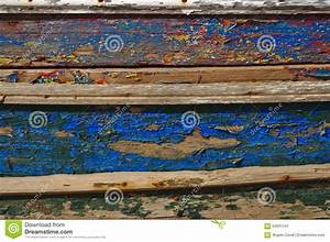 Old And Washed Out Boat Hull Stock Image