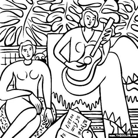 Henri Matisse La Musique Coloring Page Art