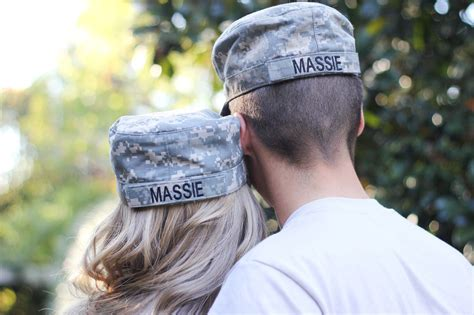Cute Engagement Announcement For A Military Couple
