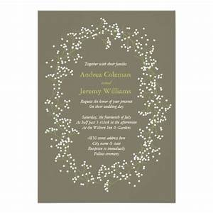 Beautiful babys breath wedding invitation card designs for Wedding invitations with baby s breath