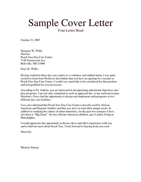 Cover Letter Format by Cover Letter Format