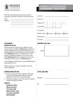 assignment cover sheet massey university