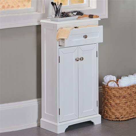 weatherby white bathroom cabinet  slim design