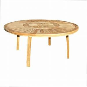 Table De Jardin Ronde En Bois : table ronde en bois art irene ~ Dailycaller-alerts.com Idées de Décoration