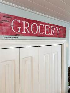kitchen wood sign the idea room With kitchen colors with white cabinets with car letter stickers