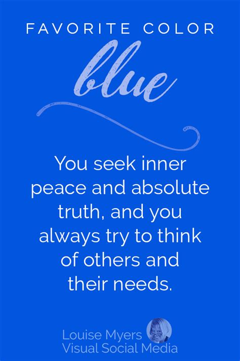 favorite color blue what does your favorite color say about you infographic
