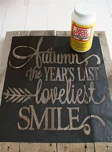 Autumn, Pallet, Wood, Sign