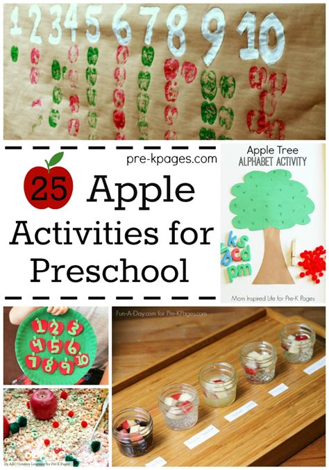 25 apple theme activities for preschool 494 | 25 Apple Activites for Preschool