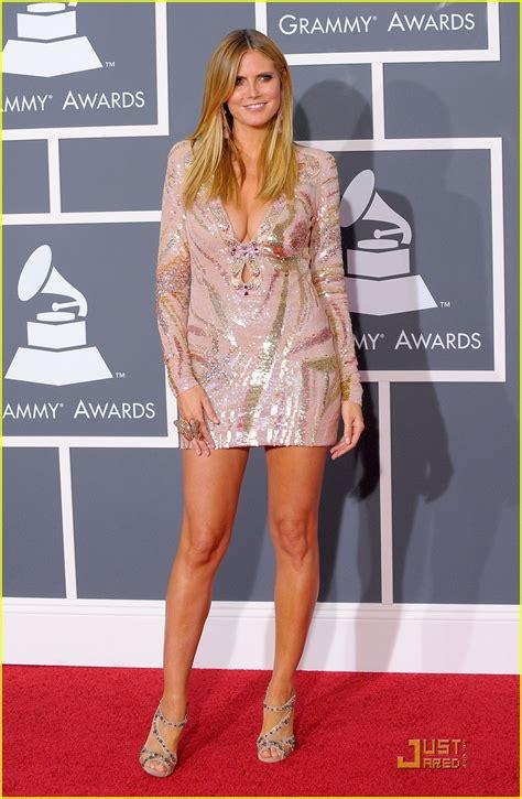 Heidi Klum Grammys Red Carpet Photo