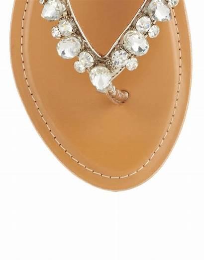 Lipsy Sandals Jeweled Faith Jewels