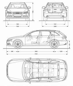 Dimension Audi A4 Avant : audi a4 avant blueprint dimensions car body design ~ Medecine-chirurgie-esthetiques.com Avis de Voitures