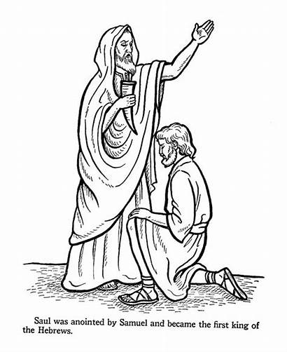 Coloring Bible Pages King David Saul Story