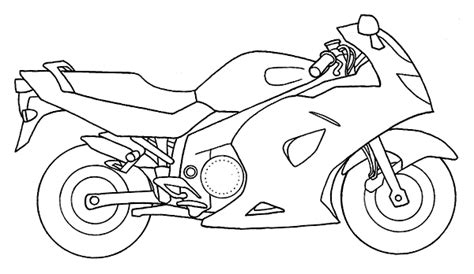 Baú da Web: Desenhos de Motos para Colorir