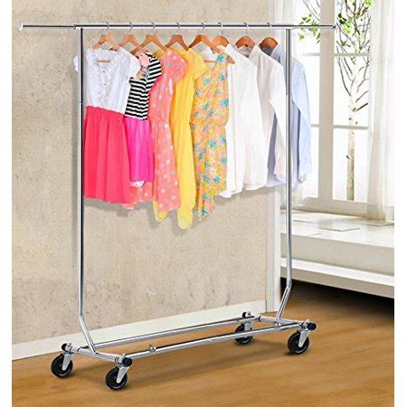 clothes hanging rack walmart yaheetech rolling collapsible clothing garment rack hanger