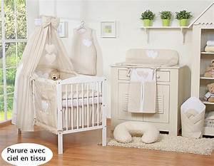 cache sommier pour lit 140x70 beige a pois With chambre bebe beige et blanc