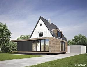 Haus modernisiert mit anbau stockfotos und lizenzfreie for Haus mit anbau