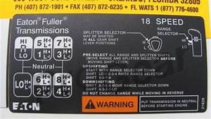 18 Speed Shift Pattern Diagram  Eaton Fuller Transmission