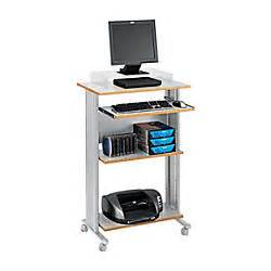 safco fixed height stand up workstation gray by office
