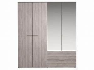 Armoire Fille Conforama : armoire 4 portes battantes tempo 2 vente de armoire ~ Teatrodelosmanantiales.com Idées de Décoration