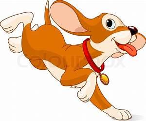 Dog, run, vector | Stock Vector | Colourbox