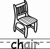 Chair Coloring Teach Abc Pages Colouring Read Sheets sketch template